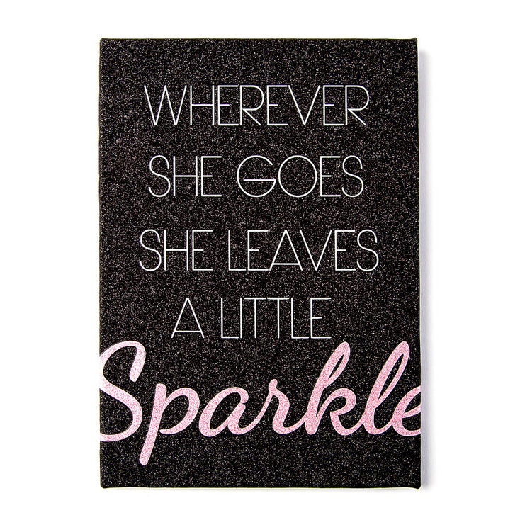 Wherever She Goes She Leaves A Little Sparkle Wall Canvas,
