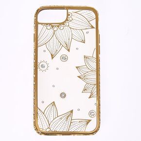 Crystal Lotus Flower Phone Case,