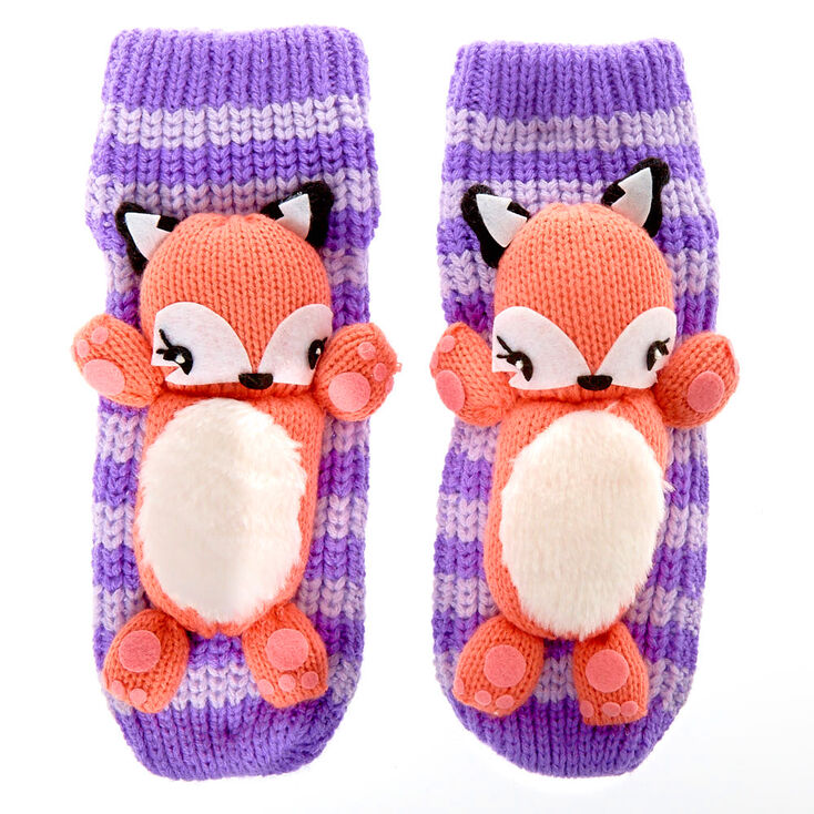 Francesca the Fox Knitted Socks