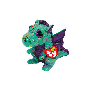 "Ty Beanie Boos Plush Cinder the Dragon - 6"" Small,"