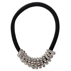 Faux Crystal Bar Hair Tie,