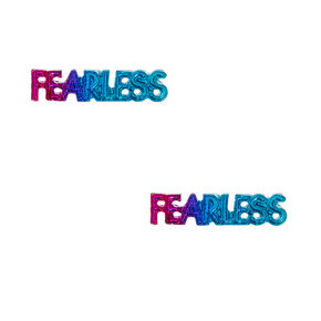 Metallic Rainbow Fearless Stud Earrings,