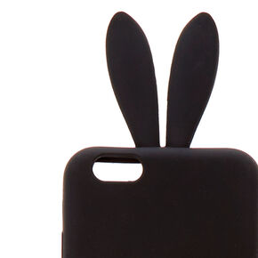 Leopard Pom Silicone Bunny Phone Case,