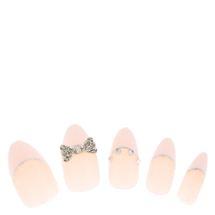 French 3D Bow Tie Fake Nails,