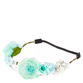 Mermaid Mint Flower Headwrap,