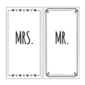 Mr. and Mrs. Beach Towels Set of 2,