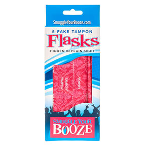 5 Pack Fake Tampon Flasks,