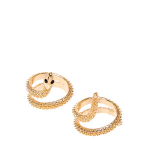 Double Snake Gold Rings,