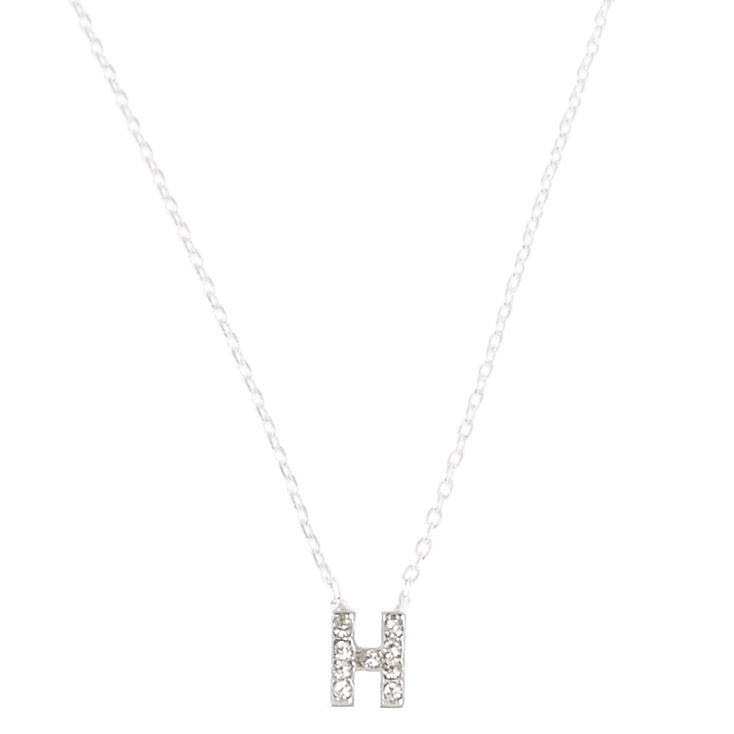 H Pendant Initial Necklace,