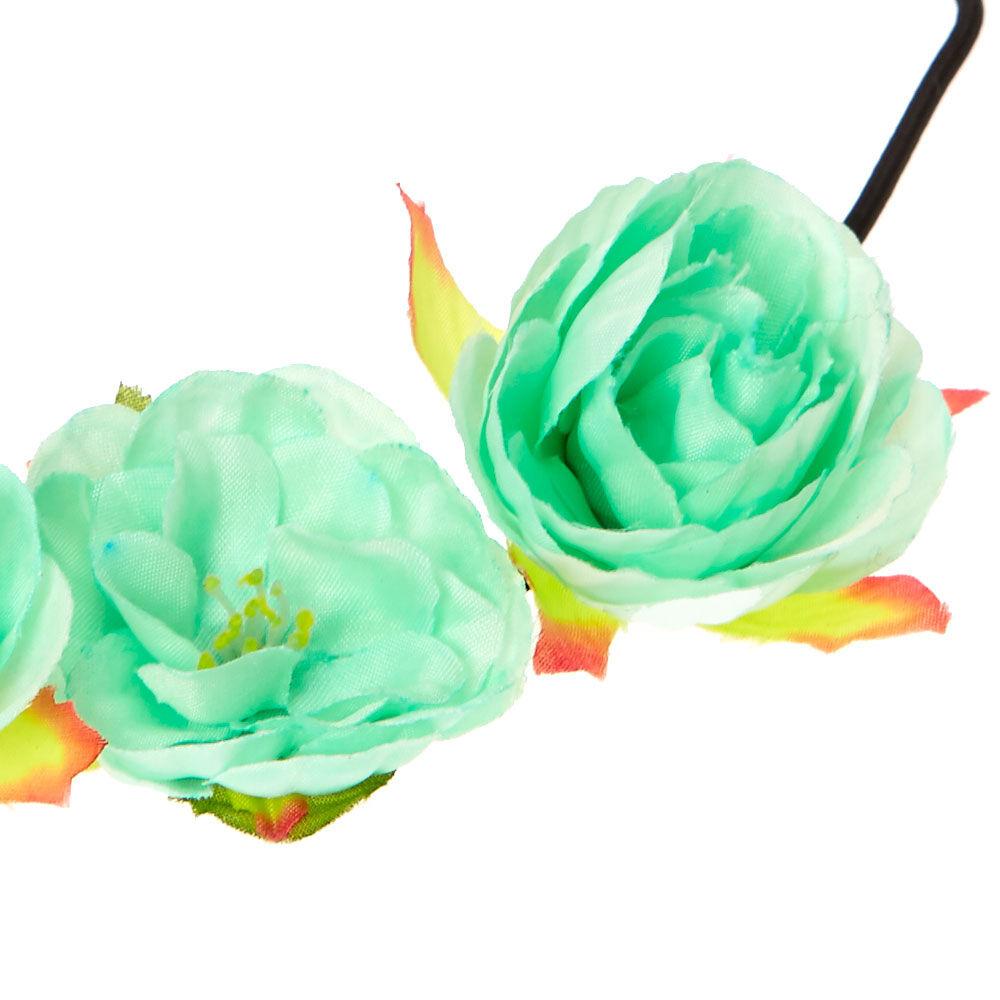mint flower crown headwrap