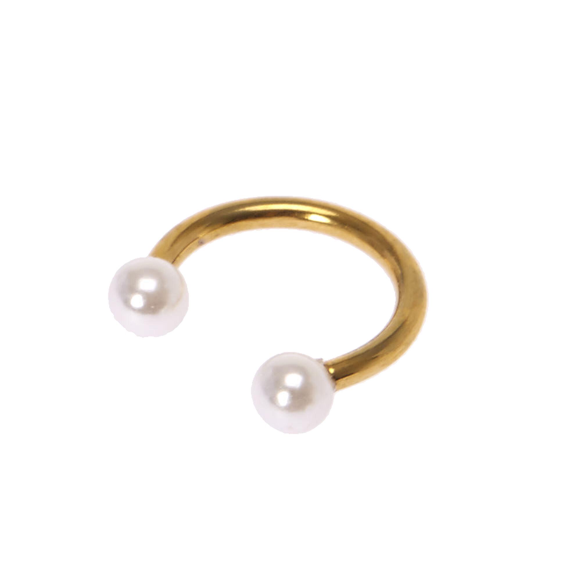 Pearl Horseshoe Septum Ring,