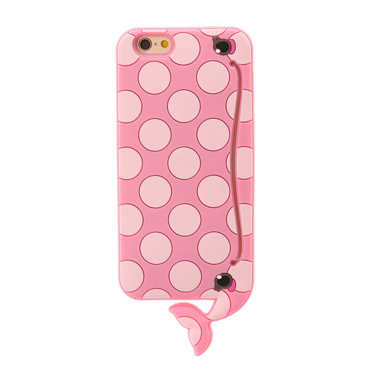 3D Pink Polka Dot Whale Phone Case,