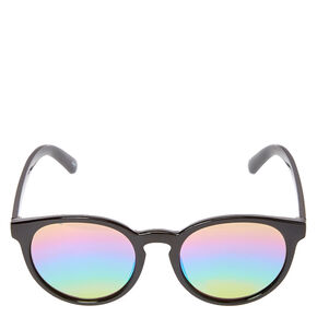 Black Cat Eye Mirrored Sunglasses,