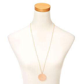 Long Filigree Pendant Necklace,