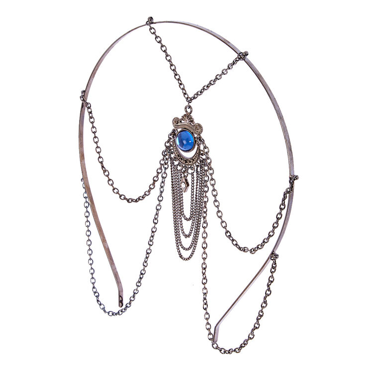 Hematite Blue Eye Stone Headband,