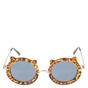 Leopard Print Cat Sunglasses,