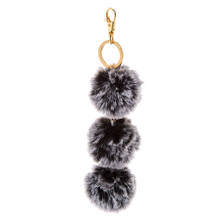 Black Fur Pom Pom Keychain at Icing in Victor, NY | Tuggl