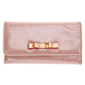 Rose Gold Glitter Tech Wallet,