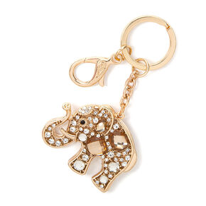 Crystal Gems Elephant Key Ring,