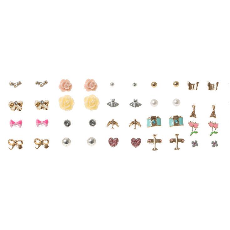19 pack travel motif stud earrings s us