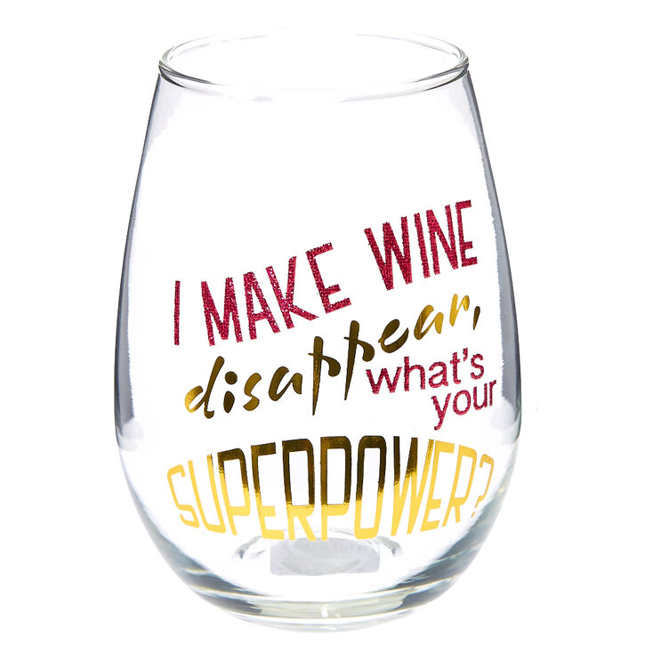 Superpower Wine Glass,