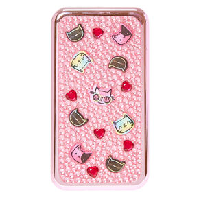 Pink Bedazzled Cat Make Up Set,
