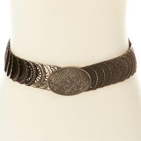 Bronze Scalloped Medallion Belt,