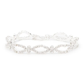 Rhinestone Marquis Outlines and Crystals Bracelet,