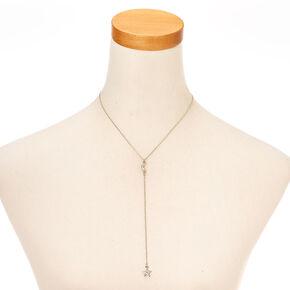 Silver-tone Celestial Pendant Y Necklace,