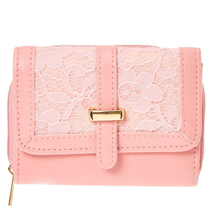 Pink Lace Faux Leather Wallet at Icing in Victor, NY | Tuggl