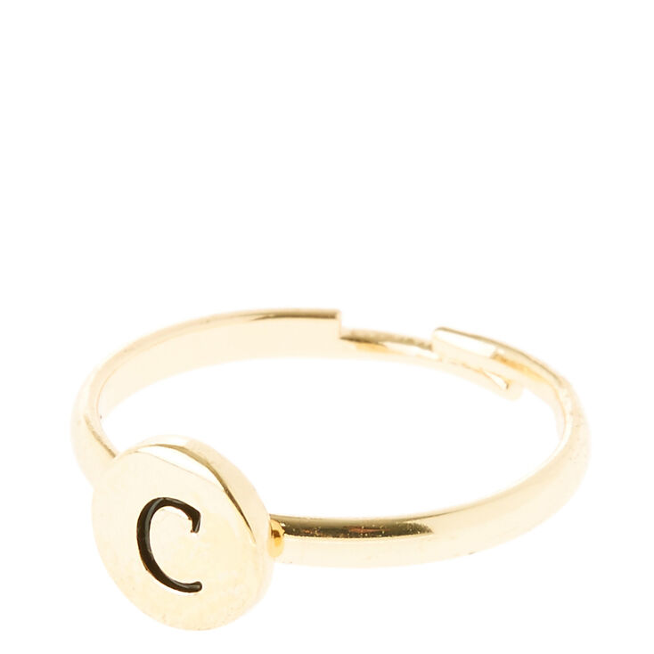 C initial letter ring claire39s us for Letter e ring