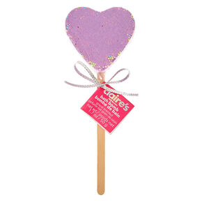 Purple  Heart Bath Bomb on a Stick,