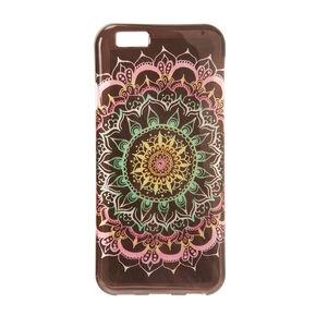 Multicolored Glitter Mandala Phone Case,