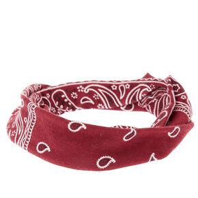 Burgundy Paisley Headwrap,