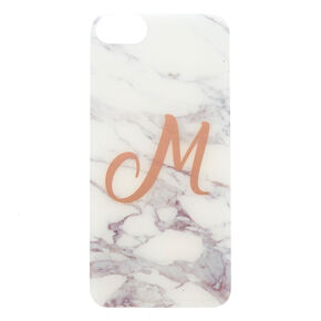 Marbled M Initial Phone Case,