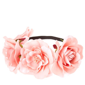 Pink Floral Stretch Flower Crown,