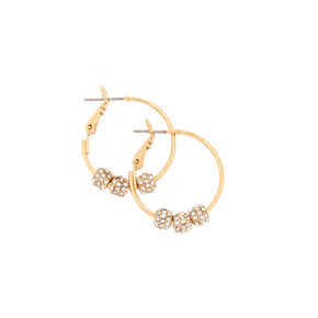 Gold-tone Fireball Beas Hoop Earrings,