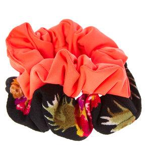 Tropical Hair Scrunchie Set,