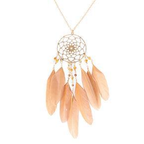 Dreamcatcher Mink Long Layer Feather Necklace,