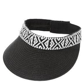 Black & White Aztec Pattern Visor,