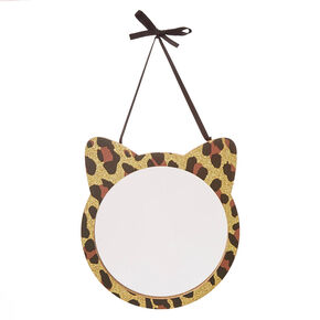 Leopard Print Cat Captain's Mirror,