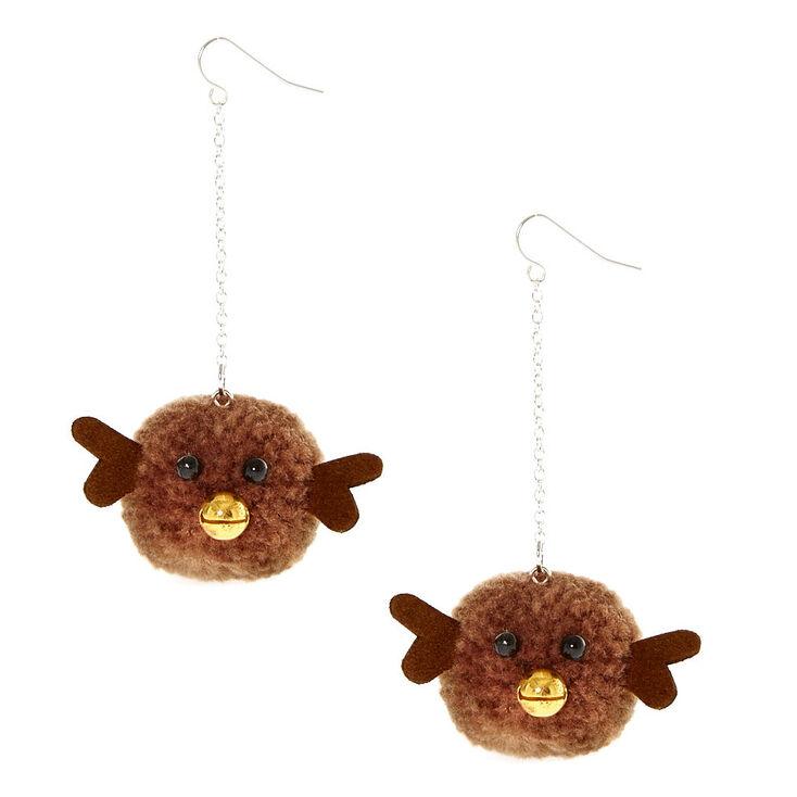 boucles d oreilles pompon cerf claire 39 s fr. Black Bedroom Furniture Sets. Home Design Ideas
