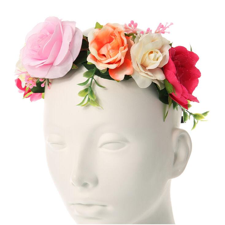 couronne de fleurs roses du jardin claire 39 s fr. Black Bedroom Furniture Sets. Home Design Ideas