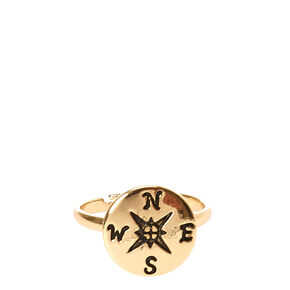 Gold-Tone Compass Ring,