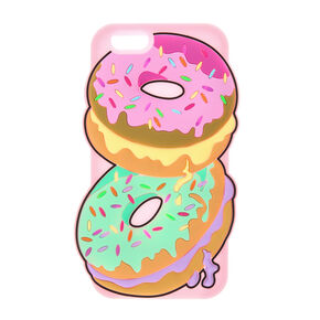 3D Silicone Donuts with Sprinkles Phone Case,