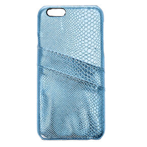 Metallic Turquoise Wallet Phone Case,