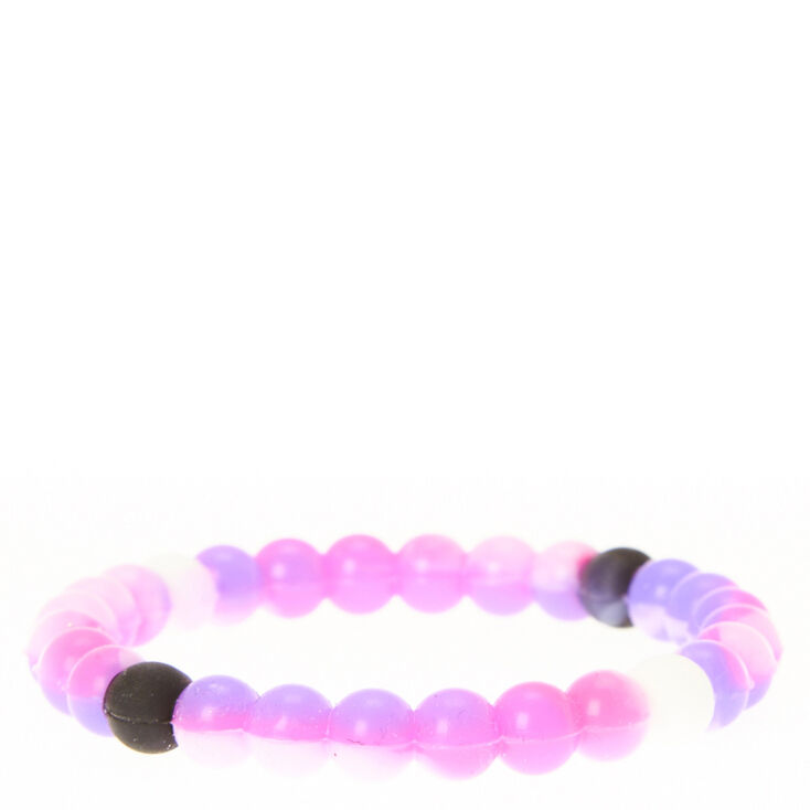 Purple Marbled Fortune Bracelet,
