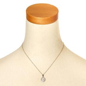 White Faux Pearl Pendant Necklace,