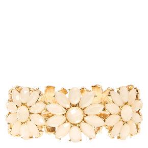 Ivory Flower Stretch Bracelet,