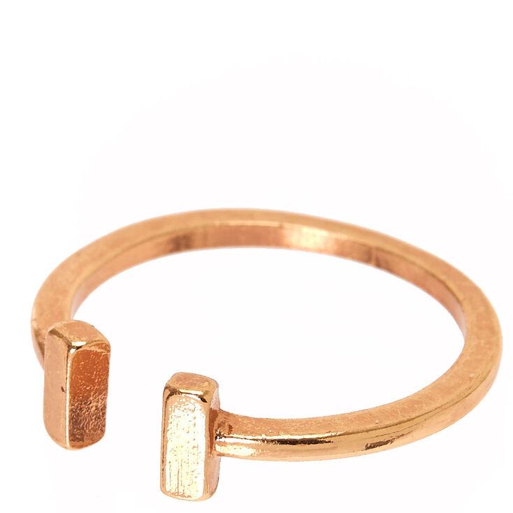Rose Gold Open Cuff Ring,